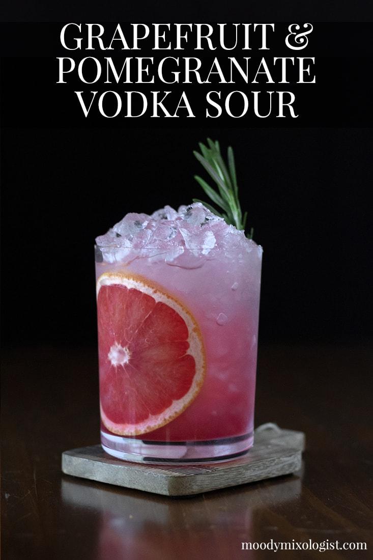 grapefruit-and-pomegrante-vodka-sour-cocktail-recipe