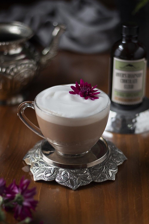 calming chocolate moon milk mountain rose chocolate elixir