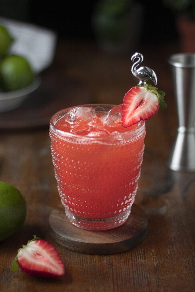strawberry margarita recipe with muddled strawberries